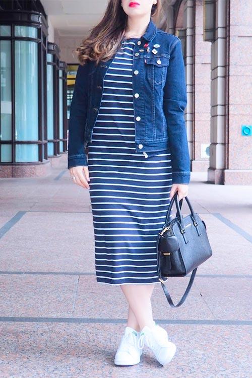 7f6f0d89492 С чем носить платье-миди весной 2017 - NINA SNA - индивидуальный ...